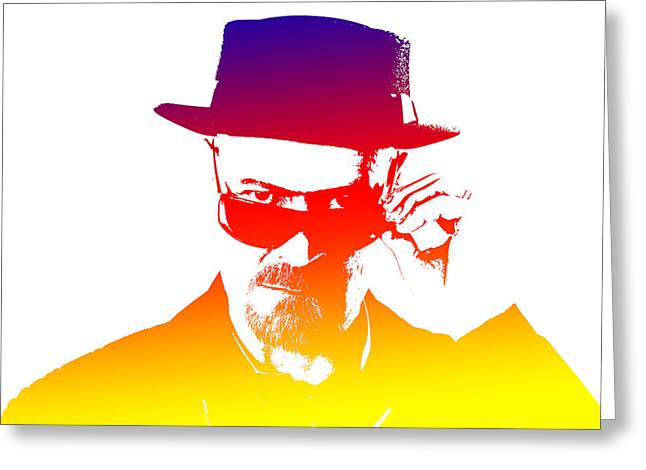 Heisenberg Prints Greeting Cards - Heisenberg -12 Greeting Card by Chris Smith