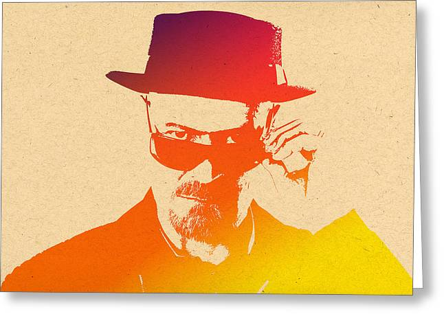 Heisenberg Prints Greeting Cards - Heisenberg -14 Greeting Card by Chris Smith