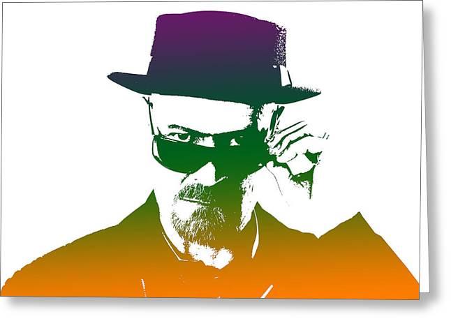 Heisenberg Prints Greeting Cards - Heisenberg - 7 Greeting Card by Chris Smith