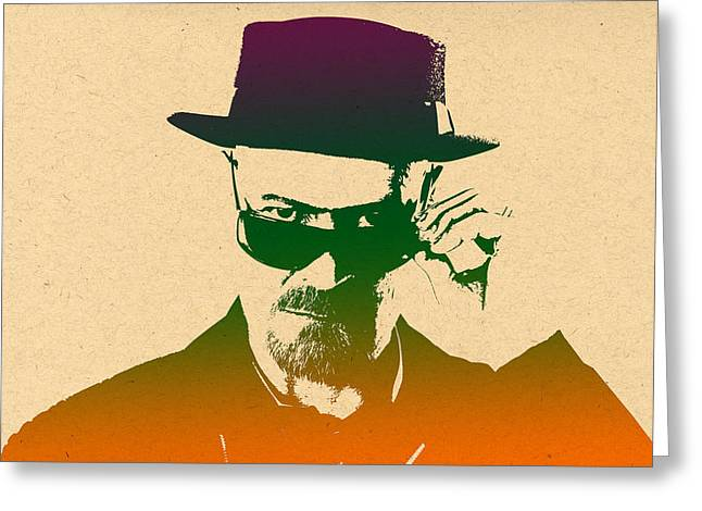 Heisenberg Prints Greeting Cards - Heisenberg - 8 Greeting Card by Chris Smith