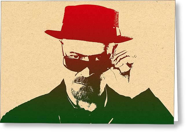 Breaking Bad Prints Greeting Cards - Heisenberg Greeting Card by Chris Smith