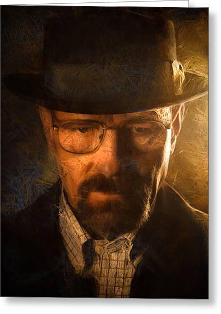 Breaking Bad Greeting Cards - Heisenberg Greeting Card by Ian Hufton