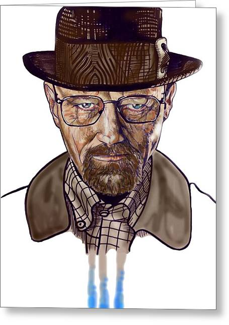 Bad Drawing Greeting Cards - Heisenberg Greeting Card by Liam Reading