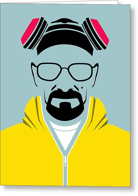 Breaking Bad Greeting Cards - Heisenberg Poster Greeting Card by Naxart Studio