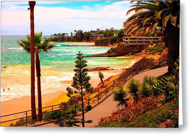 Heisler Park Greeting Cards - Heisler Park Laguna Beach Greeting Card by California Photo