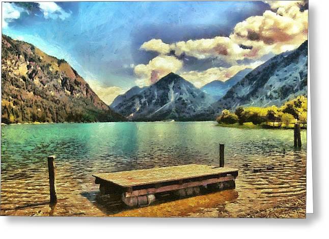 Camille Pissarro Digital Greeting Cards - Heiterwanger Lake Greeting Card by Marina Kaehne