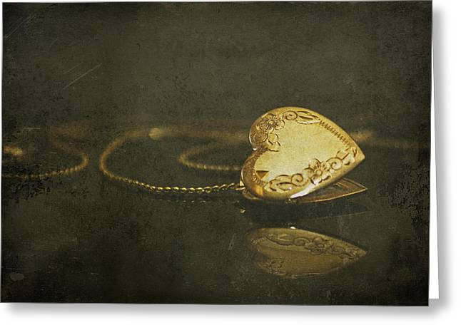 Locket Greeting Cards - Held Dear to my Heart Greeting Card by Tracy F