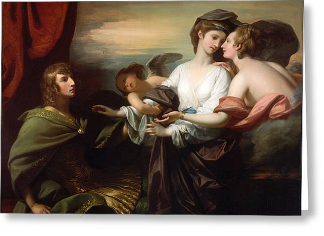 West Paris Greeting Cards - Helen Brought to Paris Greeting Card by Benjamin West