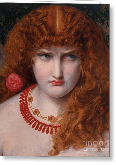 Abduction Greeting Cards - Helen of Troy Greeting Card by Anthony Frederick Augustus Sandys