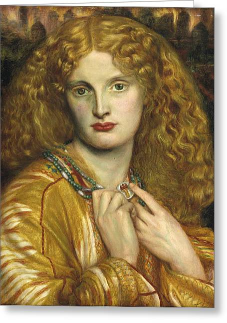 Victorian Aesthetic Greeting Cards - Helen of Troy Greeting Card by Philip Ralley