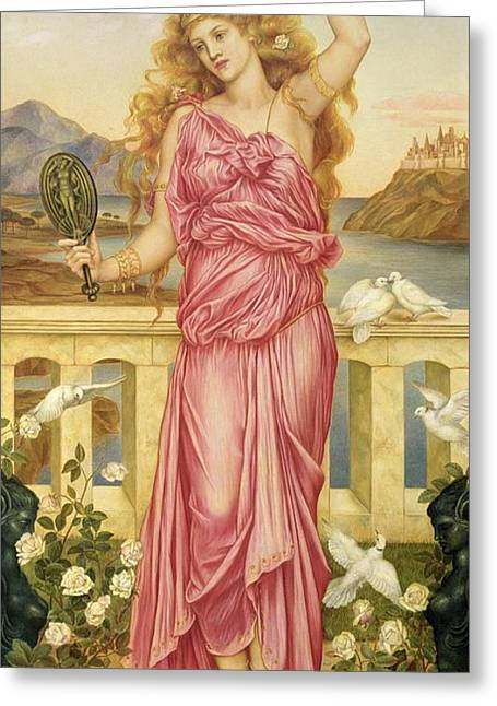 Most Greeting Cards - Helen of Troy Greeting Card by Evelyn De Morgan