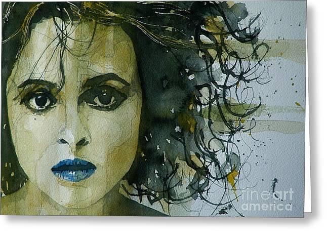 Helena Bonham Carter Greeting Card by Paul Lovering