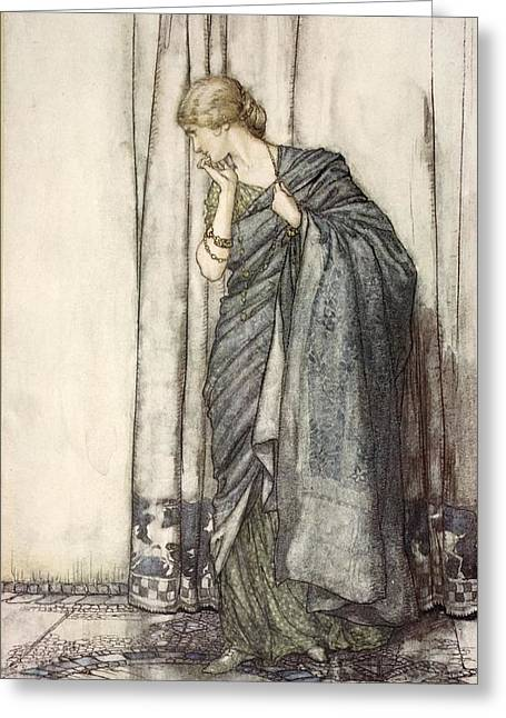 Shakespearean Greeting Cards - Helena, Illustration From Midsummer Greeting Card by Arthur Rackham