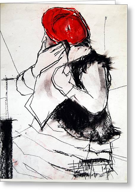 Helene #1 - Figure Series Greeting Card by Mona Edulesco