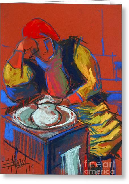 Helene #4 - Figure Series Greeting Card by Mona Edulesco