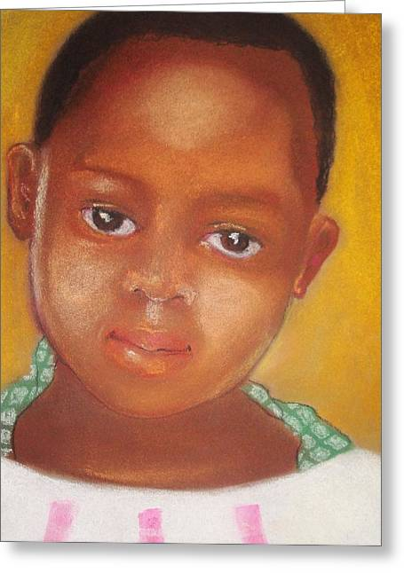 African-american Drawings Greeting Cards - Helene Greeting Card by Terri Ana Stokes
