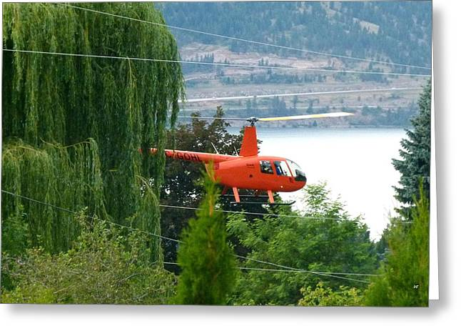 Intrigue Greeting Cards - Helicopter Drying Cherries Greeting Card by Will Borden