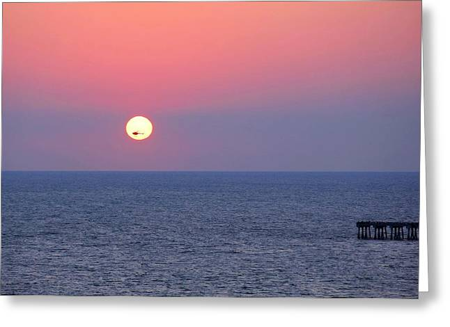Panama City Beach Greeting Cards - Helicopter in the Sun Greeting Card by Elizabeth Budd