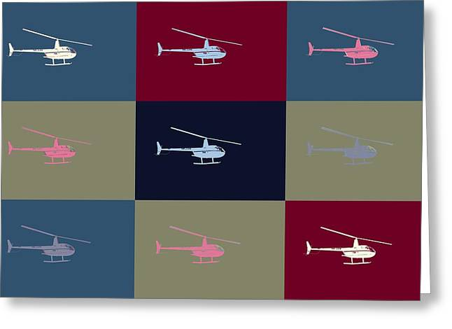 Helipad Greeting Cards - Helicopter  Greeting Card by Toppart Sweden