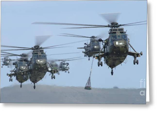 Helicopter Greeting Cards - Helicopters Greeting Card by Angel  Tarantella