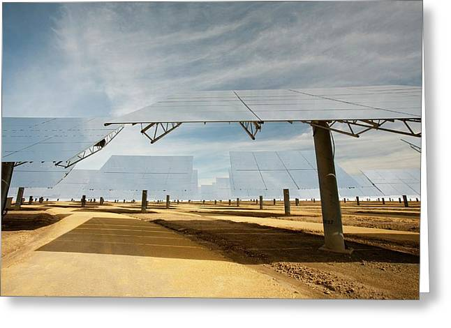 Heliostats Greeting Card by Ashley Cooper
