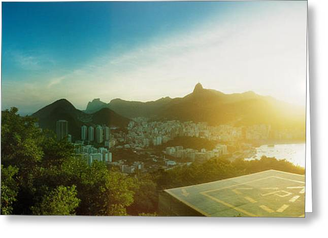 Helipad Greeting Cards - Helipad At The Top Of Sugarloaf Greeting Card by Panoramic Images