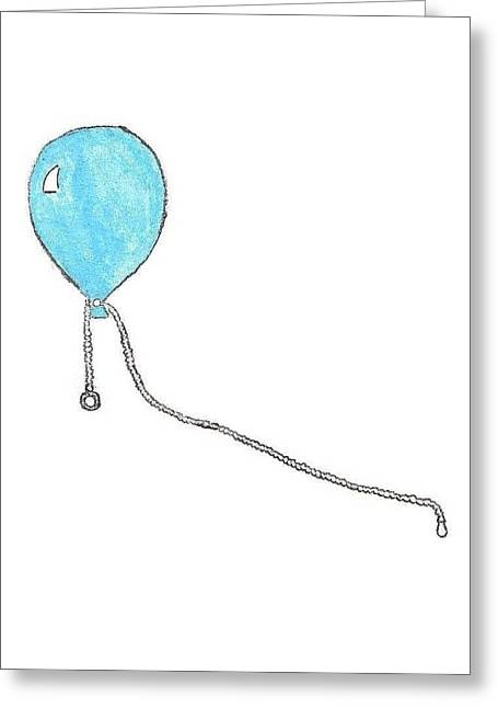 Giuliano Capogrossi Colognesi Greeting Cards - Helium Balloon Clip Greeting Card by Giuliano Capogrossi Colognesi