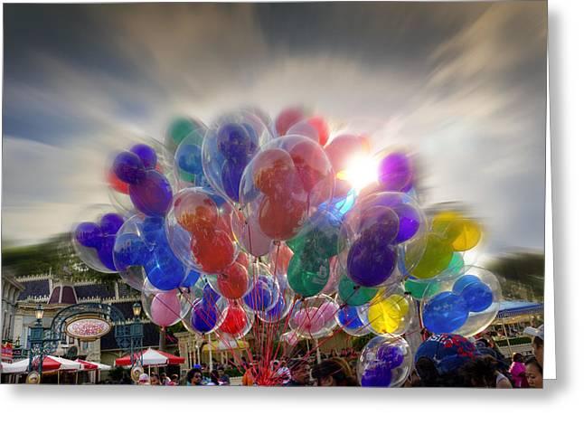Balloon Art Print Greeting Cards - Helium Ears Greeting Card by Ricky Barnard