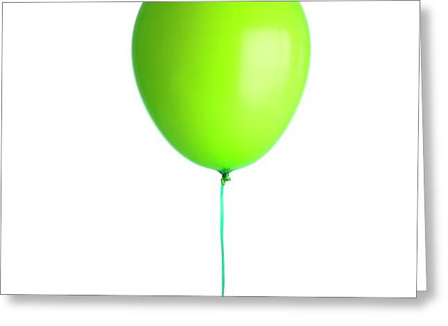 Helium-filled Balloon Greeting Card by Science Photo Library