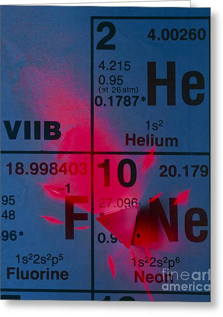Helium Greeting Cards - Helium-neon Elements As Laser Greeting Card by David Nunuk