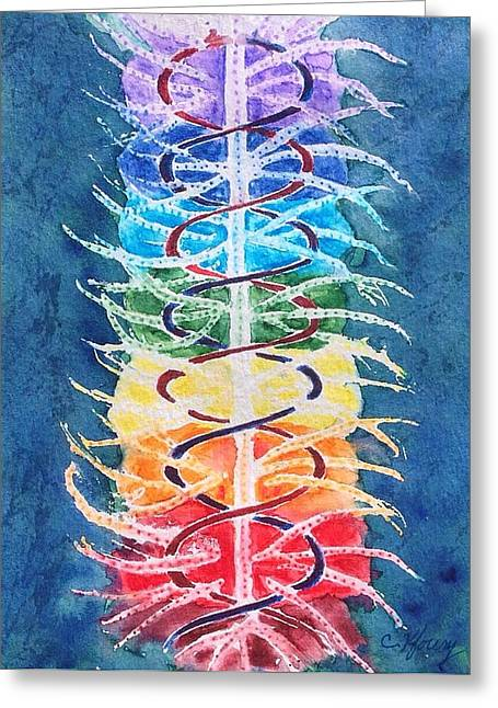 Recently Sold -  - Helix Greeting Cards - Helix Chakra Greeting Card by Christine Kfoury
