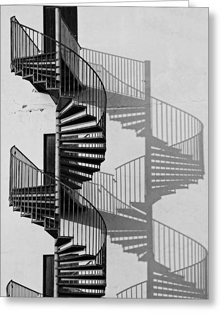 Helix Greeting Cards - Helix Greeting Card by Inge Riis McDonald