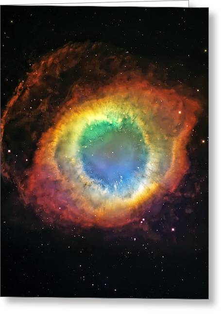 Helix Photographs Greeting Cards - Helix Nebula 2 Greeting Card by The  Vault - Jennifer Rondinelli Reilly