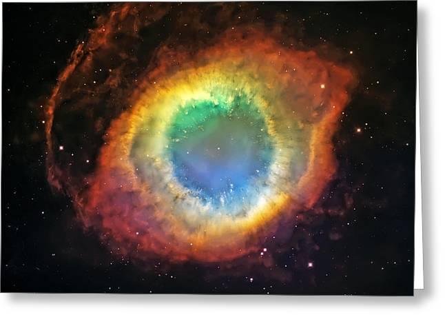 Helix Nebula 2 Greeting Card by The  Vault - Jennifer Rondinelli Reilly