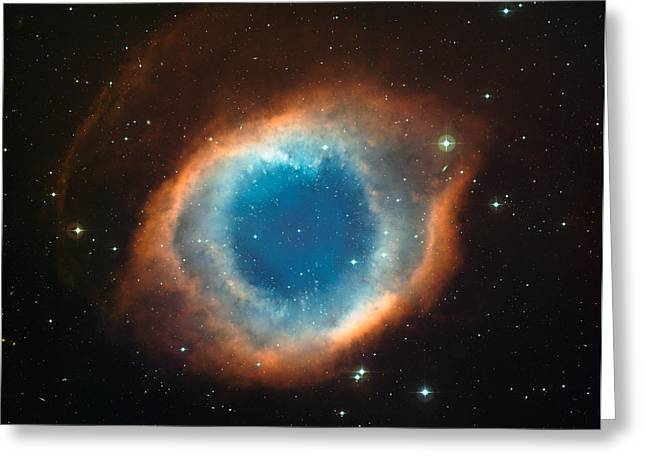 Helix Greeting Cards - Helix Nebula Greeting Card by Celestial Images