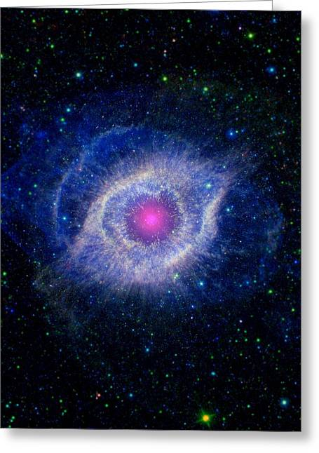 Helix Greeting Cards - Helix Nebula, composite image Greeting Card by Science Photo Library