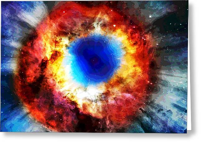 Quasars Greeting Cards - Helix Nebula Greeting Card by Dan Sproul