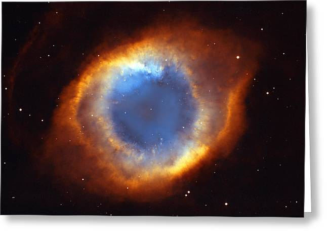 Celestial Bodies Greeting Cards - Helix Nebula Greeting Card by Ricky Barnard