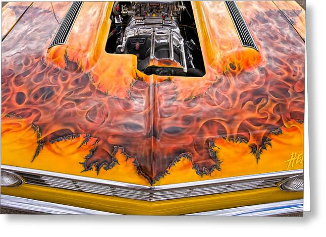 Dragway Greeting Cards - Hell Camino 2 Greeting Card by Jeff Sinon