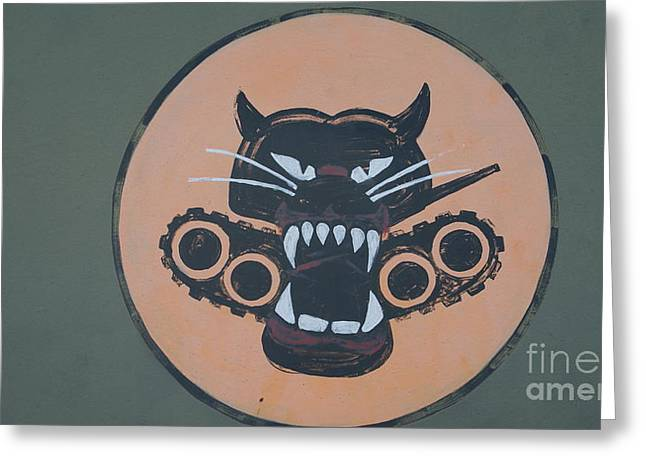 Take Over Greeting Cards - Hell Cat Sign Greeting Card by Rob Luzier