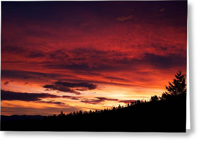 Sunset Posters Greeting Cards - Hell Rising Greeting Card by Kevin Bone