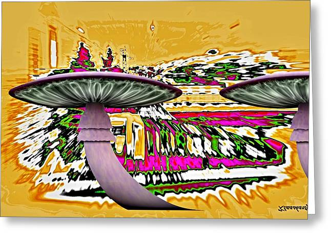 Toadstools Mixed Media Greeting Cards - Hell Travel Greeting Card by Klaas Hartz