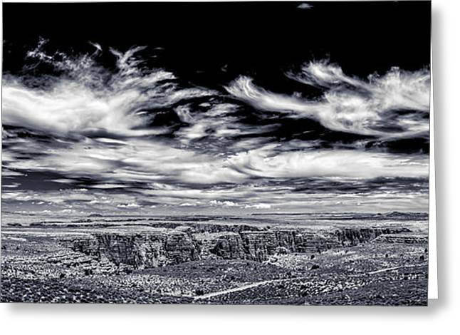Scenic Drive Greeting Cards - Hellhole Bend - BW Greeting Card by Chris Bordeleau