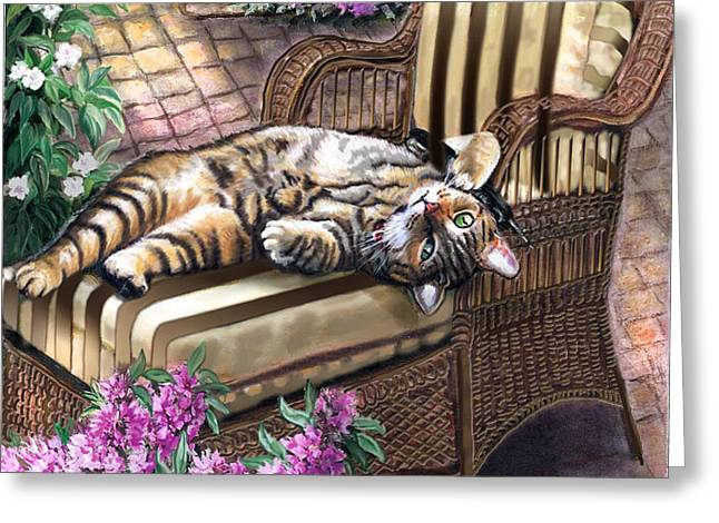 Hello from a Kitty Greeting Card by Gina Femrite