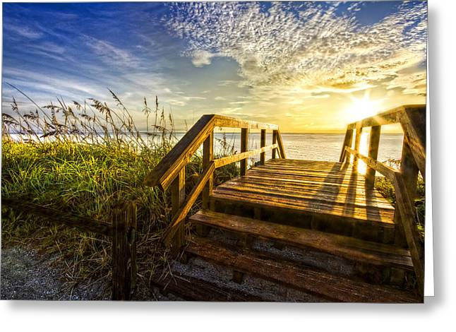 Martin County Greeting Cards - Hello Morning Greeting Card by Debra and Dave Vanderlaan