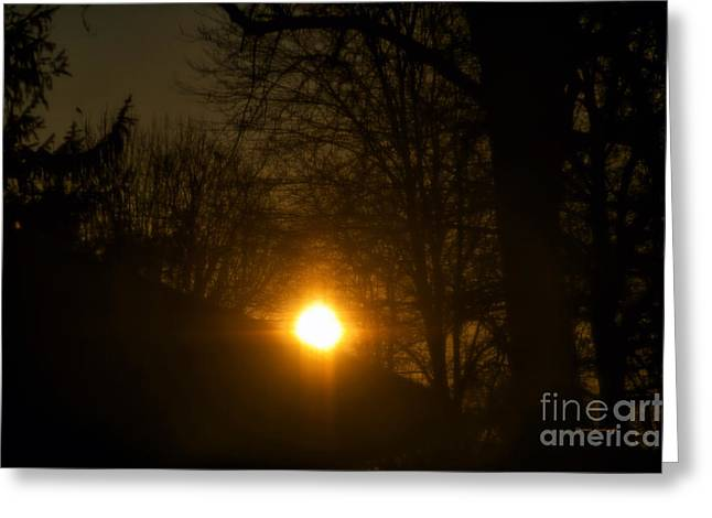 Sunset Greeting Cards Greeting Cards - Hello Springtime Sunrise Greeting Card by Thomas Woolworth