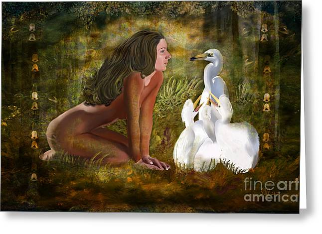 Freedom Park Paintings Greeting Cards - Hello Greeting Card by Sydne Archambault