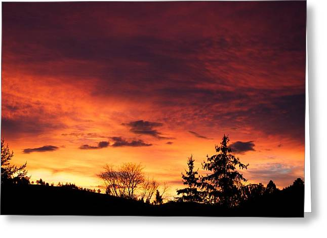 Sunset Posters Greeting Cards - Hells Calling Greeting Card by Kevin Bone