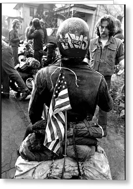 Harley Davidson Greeting Cards - Helmet Laws Suck Greeting Card by Doug Barber