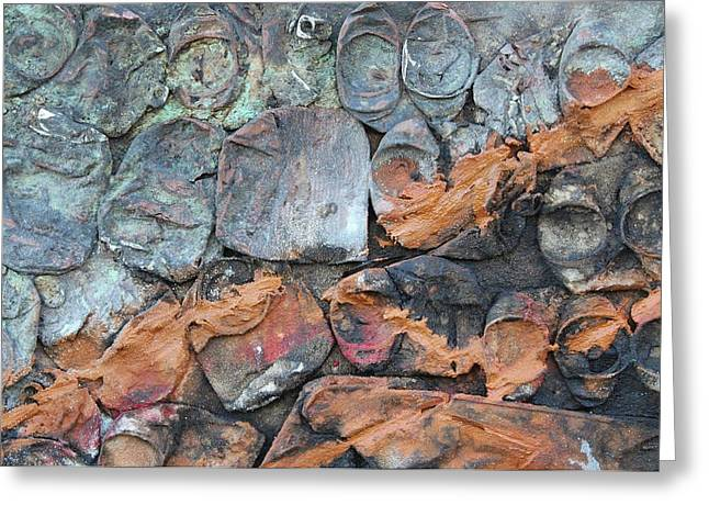 Mixed Media Sculptures Greeting Cards - Help 2 Greeting Card by Jorge Berlato